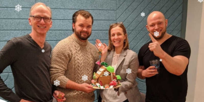 Gingerbread Wars is a fun company holiday party and team outing in Boston.