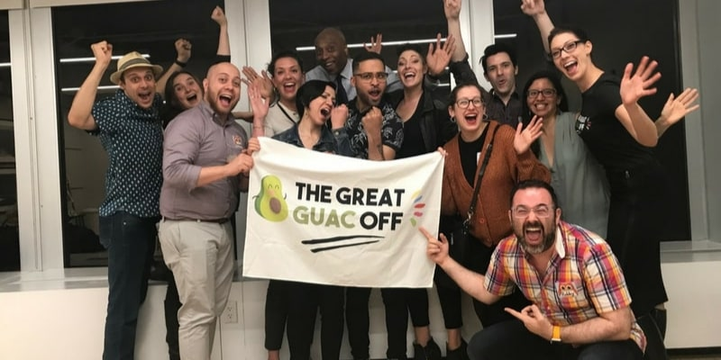 The Great Guac Off is one of the best team building activities in Denver.